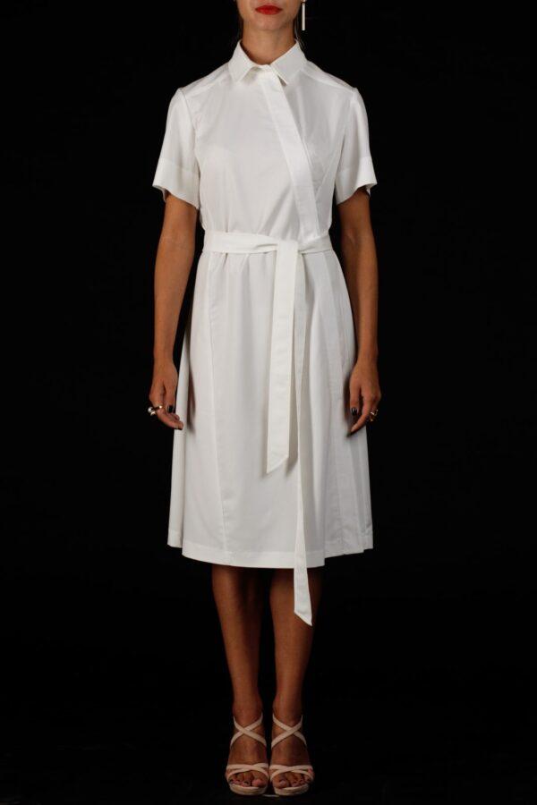Стильное белое платье