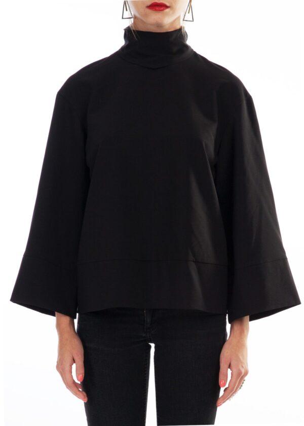 Черный женский свитшот