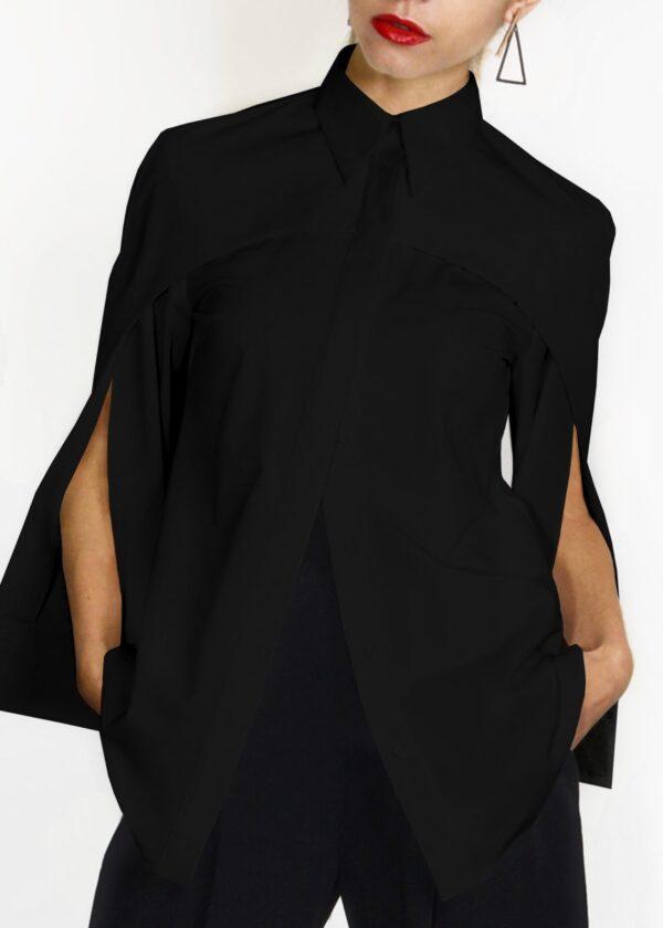 Стильная черная блузка