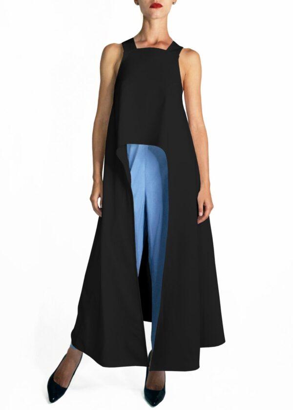 Черное платье топ