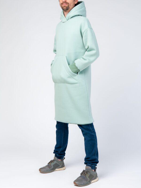 Зеленое мужское худи