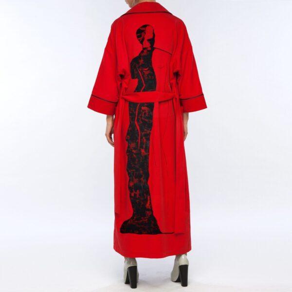 Красный кардиган