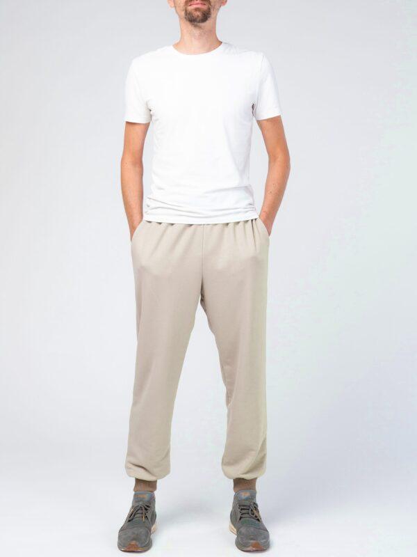 Мужские бежевые спортивные брюки