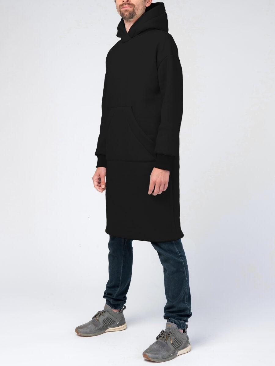 Черное мужское худи