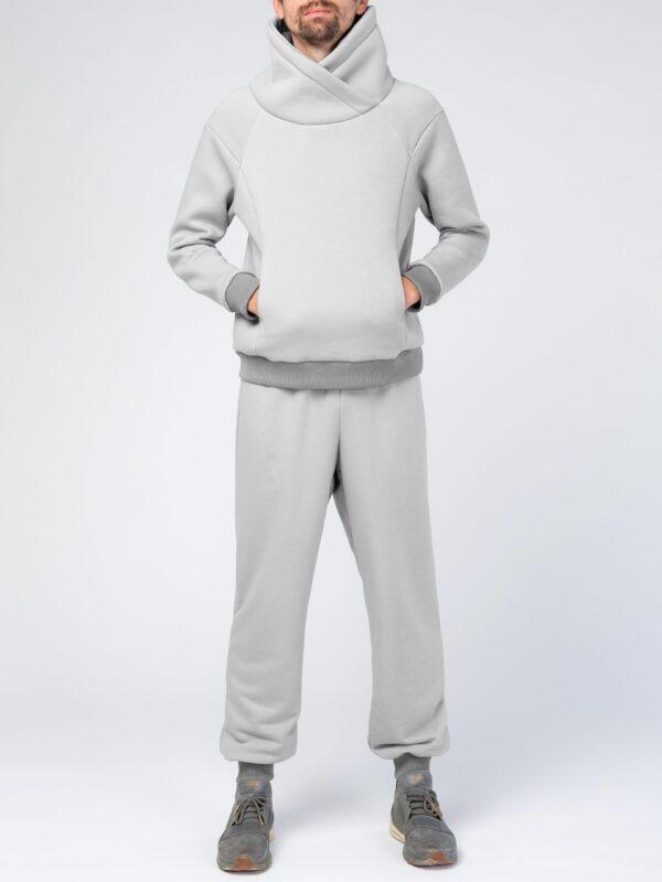 Серый мужской спортивный костюм