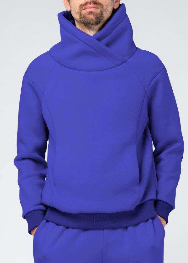 Синяя мужская толстовка