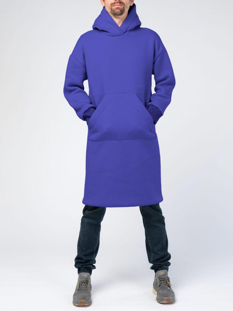 синее мужское худи